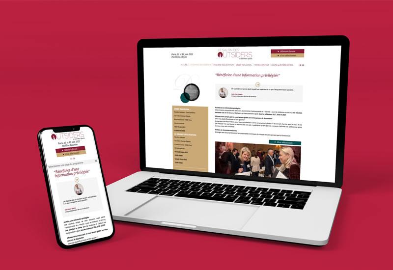 Site vitrine   Webdesign et conception graphique UI/UX   proximité Tours 37