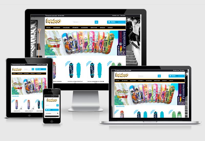 Site E-commerce | Bamboo Skate Shop