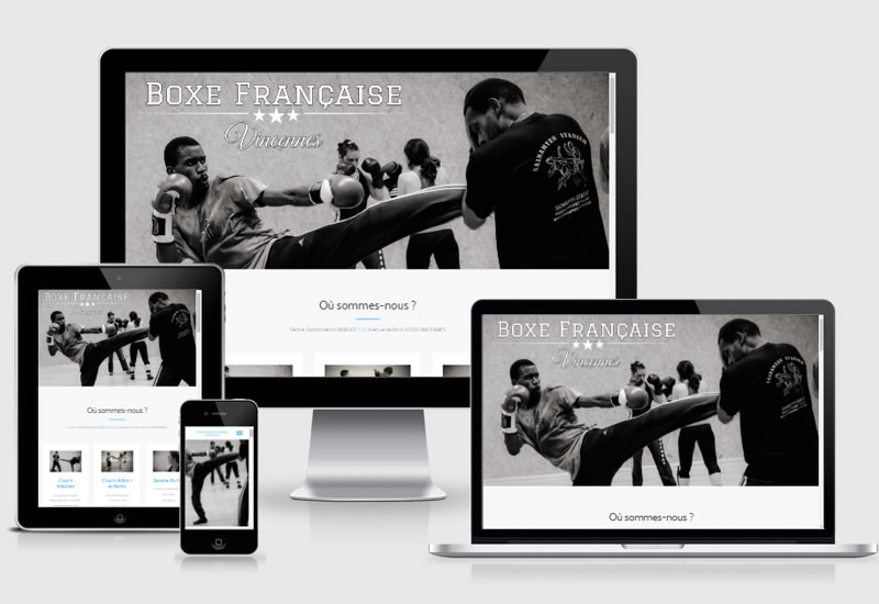 Site vitrine | Boxing club Vincennes
